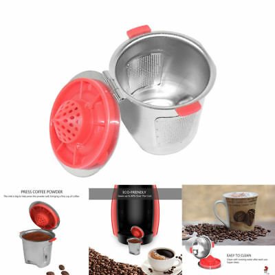 Useful Refillable Coffee Capsule Pod for Nespresso Stainless Steel Filter Cup AU