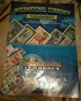 Rare! Aus Full Unc 28 Banknotes International Currency Collection In 2 Booklets!