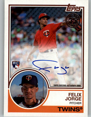 Felix Jorge 2018 Topps Series 2 1983 TOPPS AUTO Autograph Twins RC