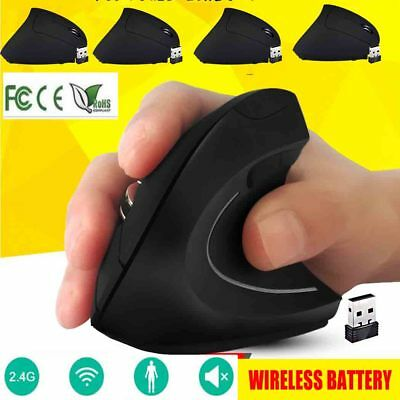 6D Wireless Mouse 2.4GHz Game Ergonomic Design Vertical Mouse 1600DPI USB Mice
