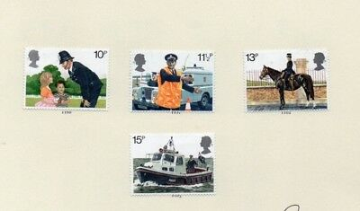 GREAT BRITAIN STAMPS - MINT SET OF 4  - 150th ANNIVERSARY METRO POLICE - 1979