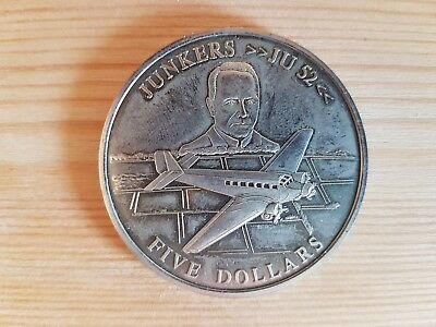 5 Dollars Republic of Liberia 2001 - Junkers Ju 52