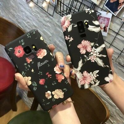 For Samsung Galaxy Note 9 S9 Plus Traditional Flower Hard Protective Cover Case