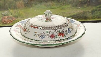 Copeland Spode Chinese Rose Pattern c1950s Lidded Muffin Dish Rd 629599