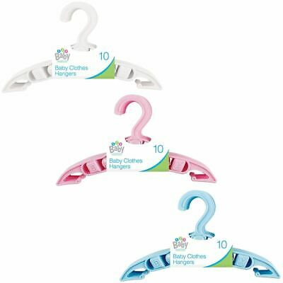 10x Baby Toddler Childrens Kids Child Small Plastic Clothes Coat Hangers Nursery