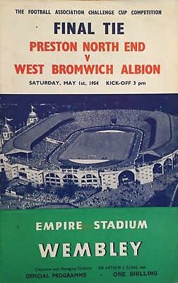 1954 F A Cup Final  Preston North End v West Bromwich Albion