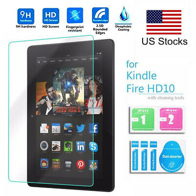 Premium 9H 10'' Tempered Glass Screen Protector For Amazon Kindle Fire 10 2015