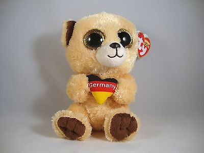 "TY The Beanie Boos Collection ""Bär Germany"" Stoff-Figur Stofftier Deutschland"
