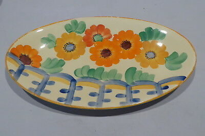 Vintage Gray's Pottery Handpainted Small Dish, Gaiety Pattern, #8889, c1930