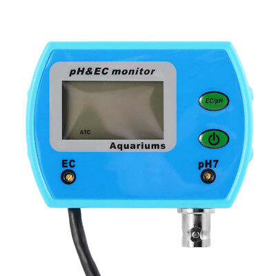 2 In 1 Water Quality Online pH EC Meter Tester Monitor with LCD Display TH919