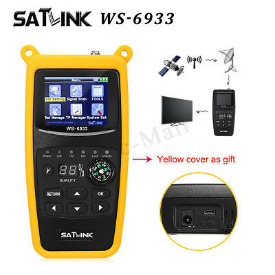 Satlink WS-6933 DVB-S2 FTA Digital Satellite Compact Signal Finder Meter LCD