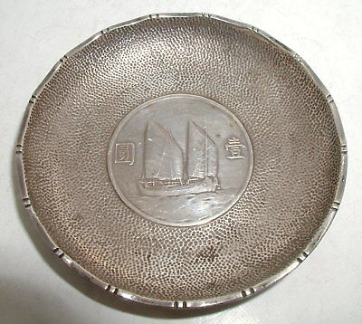"""Chinese Solid Silver Coin Dish"" Lee Yee Hing? Circa 1900 #3"