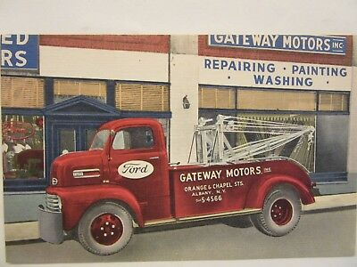1948 to 1950 Ford F6 COE Tow Truck @ GATEWAY MOTORS, FORD DEALERSHIP, Albany, NY