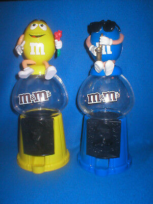 2 x M&M SPENDER YELLOW  + BLUE