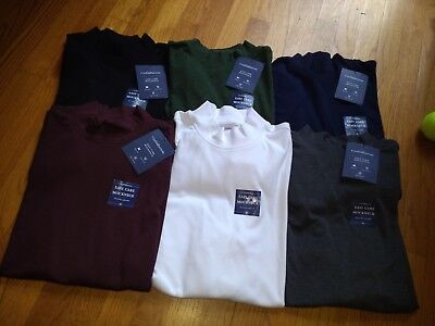 NWT  Mens Croft & Barrow Cotton Blend Mock Neck Turtleneck L/S Shirt