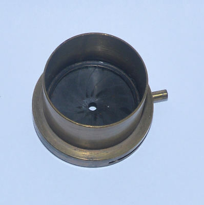 Old brass microscope iris diaphragm for condenser.