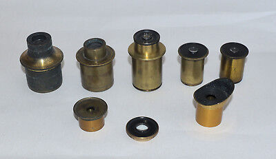 Eyepieces for brass microscope.