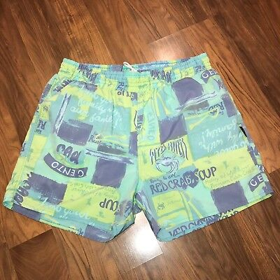 Vtg 80s 90s JOCKEY All Over Print Mens LARGE chubbies Swim suit trunks shorts L