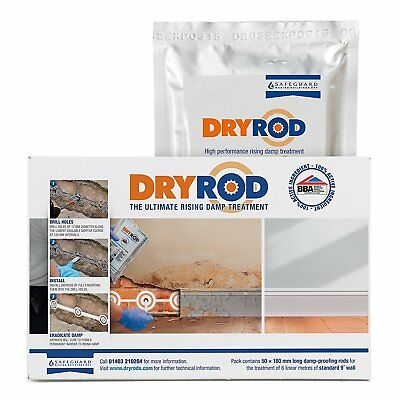 Dryrod Damp-Proofing Rods   Rising Damp Treatment   50 Pack