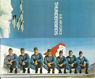 1970 U.s. Air Force Thunderbirds Poster/pamphlet