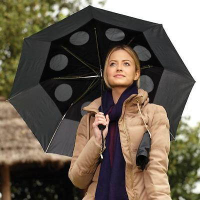 NEW Staydry Umbrella Specially Vented  Windproof Brolly Strong Double Canopy