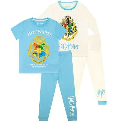 Harry Potter Pyjamas | Girls Hogwarts PJs 2 Pack | Kids Harry Potter Pyjama Set