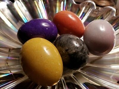 5 Solid Marble Eggs