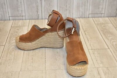 27ecfc2c504 MARC FISHER LTD Adalyn Espadrille Wedge Sandal - Women's Size 8 - Brown