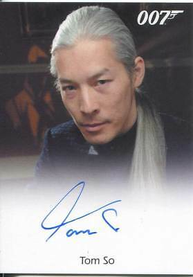 James Bond Autographs & Relics Autograph Card Tom So