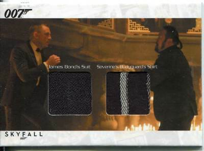 James Bond Autographs & Relics Dual Relic Card SCDC3 Bond & Severine Bodyguard