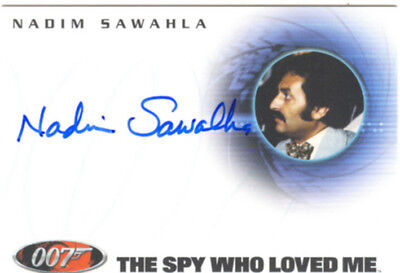 James Bond Dangerous Liaisons Autograph A60 Nadim Sawahia