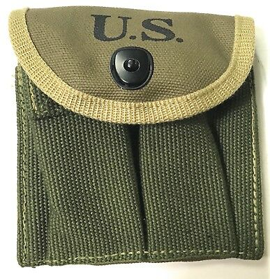 Wwii Us M1 Carbine Rifle 15Rd Butt Stock Ammo Pouch-Od#7
