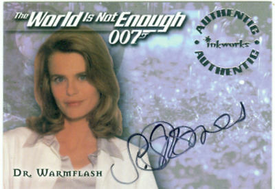 James Bond The World In Not Enough Autograph A4 Serena Scott Thomas