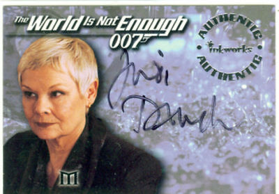 James Bond The World In Not Enough Autograph A2 Judi Dench