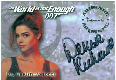 James Bond The World In Not Enough Autograph A1 Denise Richards