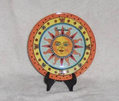 """Cayman Islands Hand Painted American Gift 7 1/2"""" Decorative Plate Vgc"""