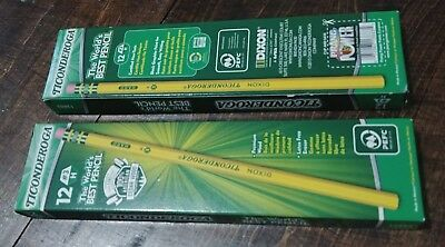 Ticonderoga 12 pack #3 H Cedar Wood Pencils 2 Boxes NEW