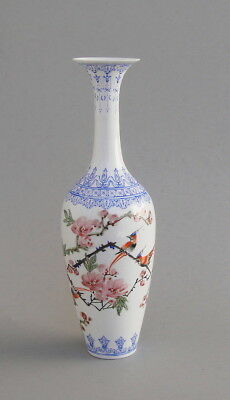 Antique Chinese Republic Period  Eggshell Porcelain Vase with Qianlong Mark