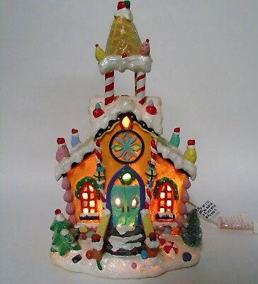 Christmas Gingerbread Church Lighted House p215
