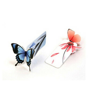 5Pcs 3D Butterfly Shape Paper Bookmark Book Markers Decor Wings Open Reading S