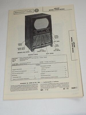 1951 Repair & Parts PHOTOFACT Manual for AIRLINE MODEL 05WG-3030A TELEVISION