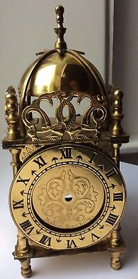"""Vintage Antique Smiths 7"""" Tall Brass  Dome Electric ClockFor Restoration"""