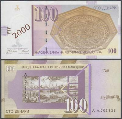 2000 National Bank of the Republic of Macedonia 100 Denari (Unc)