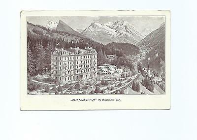 Black & White Postcard of Kaiserhof Hotel, Badgastein, Austria