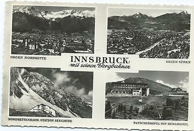 Black/White Postcard of 4 Views of Innsbruck
