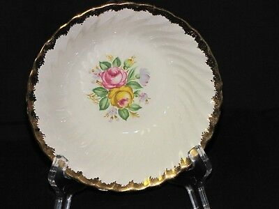 Lovely Pair of Vintage USA Royal China Quban 22kt Gold Cereal Dishes Bowls