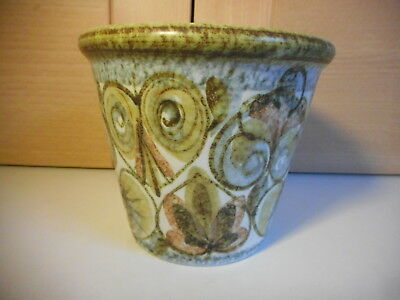 Bourne Denby Glyn Colledge Glynbourne Green And Brown Small Planter