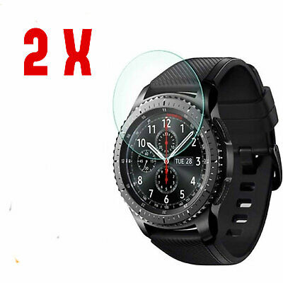2-Pack Tempered Glass Screen Protector For Samsung Gear S3 Frontier