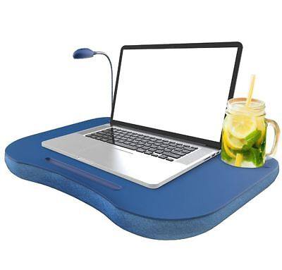 Laptop Lap Desk Cup Holder Bed Computer Table Portable Tray Notebook Stand Pad