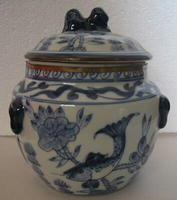 A Fine Vintage Chinese Blue&white Hand Painted Big Ginger Jar-Restored